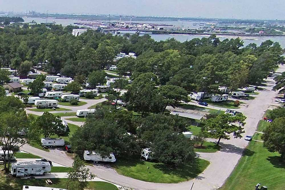 aerial view of Houston Leisure RV resort