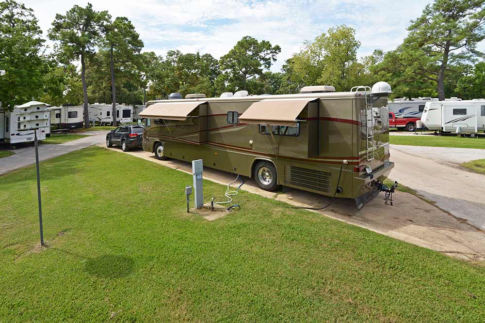 RV at a campsite